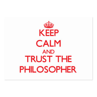 Keep Calm and Trust the Philosopher Business Card Template