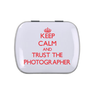 Keep Calm and Trust the Photographer Jelly Belly Tins