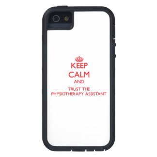 Keep Calm and Trust the Physiotherapy Assistant iPhone 5 Covers