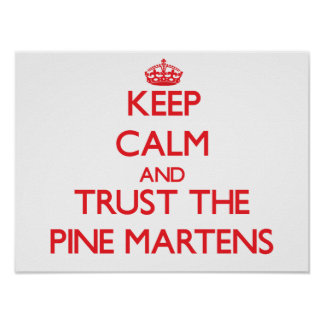 Keep calm and Trust the Pine Martens Poster