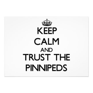 Keep calm and Trust the Pinnipeds Custom Invitations