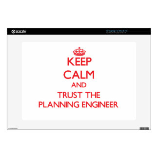 """Keep Calm and Trust the Planning Engineer 15"""" Laptop Decal"""