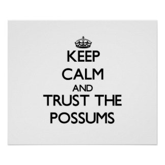 Keep calm and Trust the Possums Poster