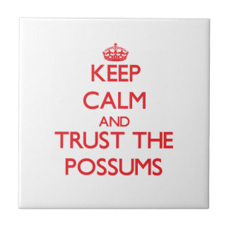 Keep calm and Trust the Possums Tile