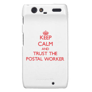 Keep Calm and Trust the Postal Worker Droid RAZR Cover