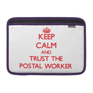 Keep Calm and Trust the Postal Worker MacBook Air Sleeve