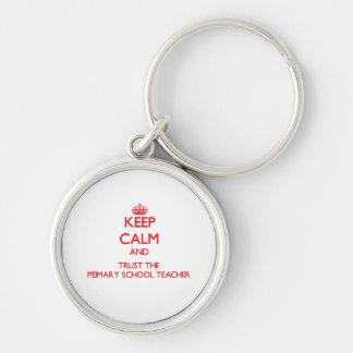 Keep Calm and Trust the Primary School Teacher Keychains