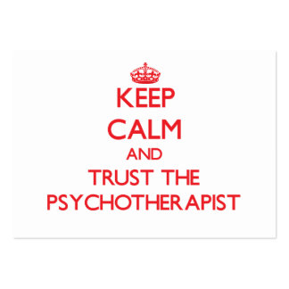 Keep Calm and Trust the Psychotherapist Business Card Template