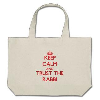 Keep Calm and Trust the Rabbi Tote Bag