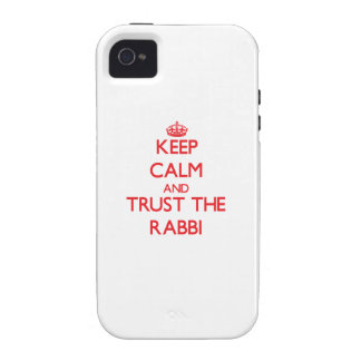 Keep Calm and Trust the Rabbi Case-Mate iPhone 4 Cases