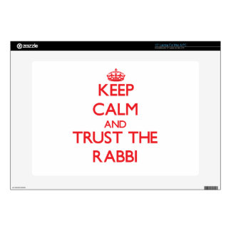 Keep Calm and Trust the Rabbi Laptop Skins