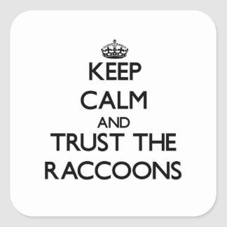 Keep calm and Trust the Raccoons Square Sticker