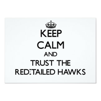 Keep calm and Trust the Red-Tailed Hawks Personalized Invite