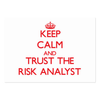Keep Calm and Trust the Risk Analyst Business Cards