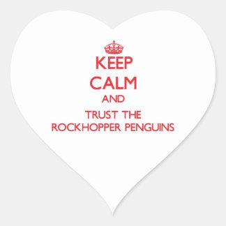 Keep calm and Trust the Rockhopper Penguins Heart Sticker
