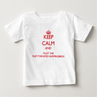 Keep calm and Trust the Ruby-Throated Hummingbirds Tee Shirt