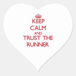 Keep Calm and Trust the Runner Sticker