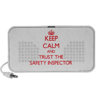Keep Calm and Trust the Safety Inspector Laptop Speakers