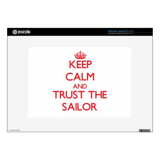 Keep Calm and Trust the Sailor Netbook Decals