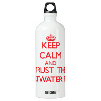 Keep calm and Trust the Saltwater Fish SIGG Traveler 1.0L Water Bottle