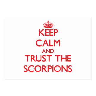 Keep calm and Trust the Scorpions Business Card Template