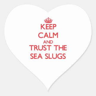 Keep calm and Trust the Sea Slugs Heart Stickers
