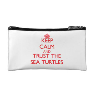 Keep calm and Trust the Sea Turtles Makeup Bags