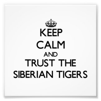 Keep calm and Trust the Siberian Tigers Photo Print