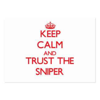 Keep Calm and Trust the Sniper Business Card Template
