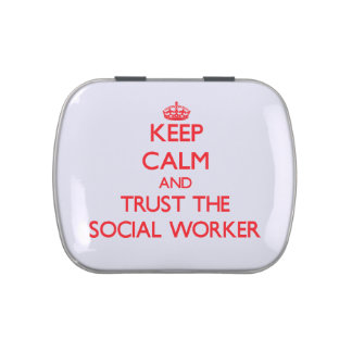 Keep Calm and Trust the Social Worker Jelly Belly Tin