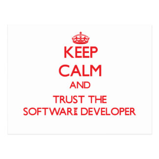 Keep Calm and Trust the Software Developer Postcards