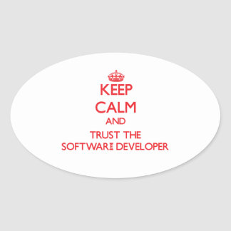 Keep Calm and Trust the Software Developer Sticker