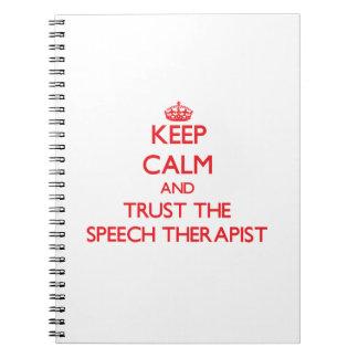Keep Calm and Trust the Speech Therapist Spiral Notebook