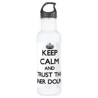 Keep calm and Trust the Spinner Dolphins 24oz Water Bottle