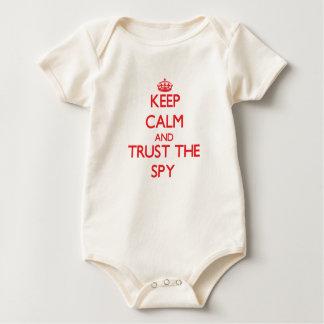 Keep Calm and Trust the Spy Baby Bodysuit