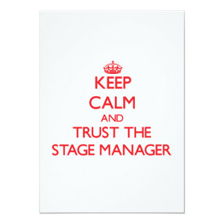 Keep Calm and Trust the Stage Manager Cards