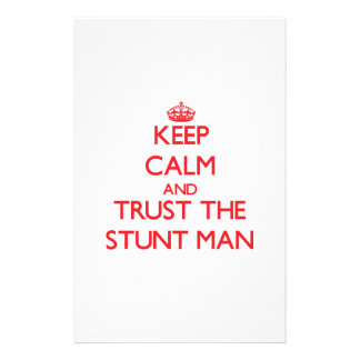 Keep Calm and Trust the Stunt Man Personalized Stationery