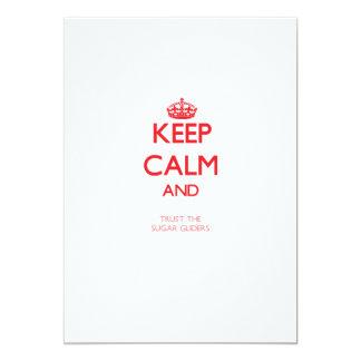 Keep calm and Trust the Sugar Gliders Custom Invite