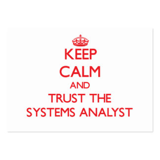 Keep Calm and Trust the Systems Analyst Business Cards