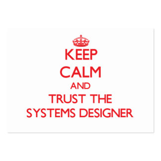 Keep Calm and Trust the Systems Designer Business Cards