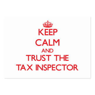Keep Calm and Trust the Tax Inspector Business Cards