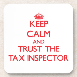 Keep Calm and Trust the Tax Inspector Coasters