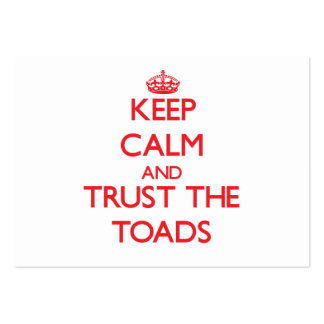 Keep calm and Trust the Toads Large Business Cards (Pack Of 100)