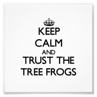 Keep calm and Trust the Tree Frogs Photograph