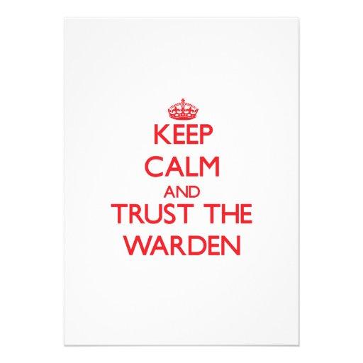 Keep Calm and Trust the Warden Custom Invite