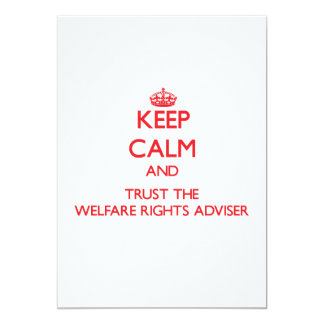 Keep Calm and Trust the Welfare Rights Adviser Personalized Invitation