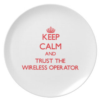 Keep Calm and Trust the Wireless Operator Party Plates