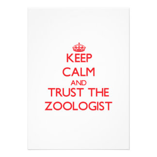 Keep Calm and Trust the Zoologist Personalized Announcement