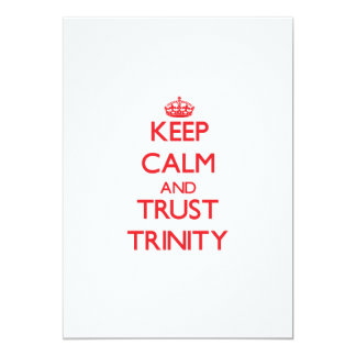 Keep Calm and TRUST Trinity 5x7 Paper Invitation Card