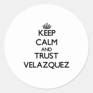 Keep calm and Trust Velazquez Stickers